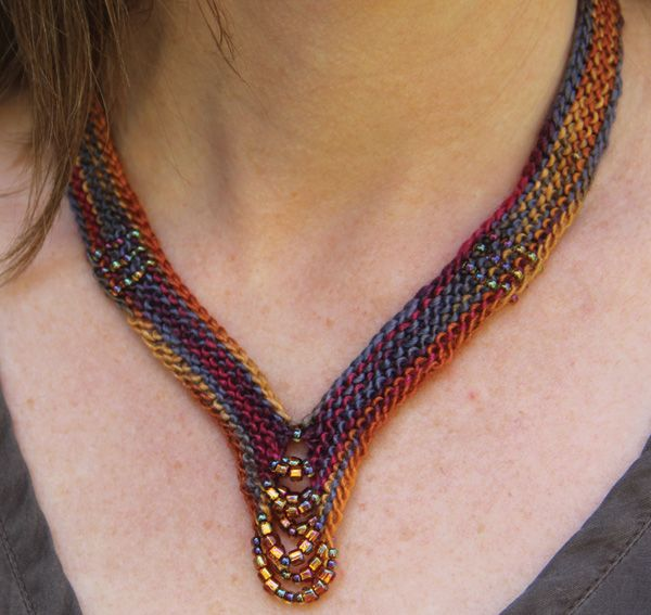 Knitting Jewelry Patterns : Best images about fiber knit garter miter square