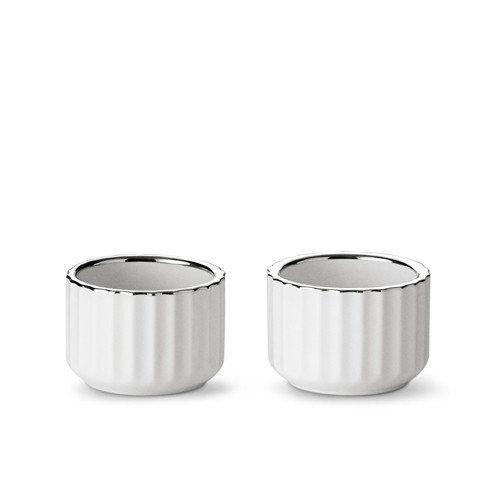 Lyngby stagen - 5 cm hvid m. sølvkant