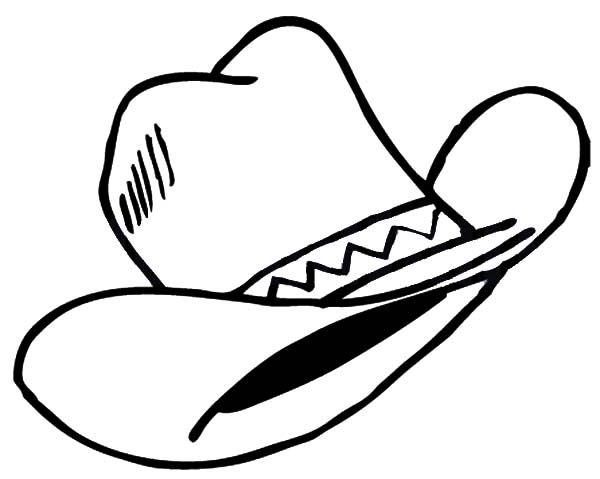 Cowboy Hat Wild Wild West Cowboy Hat Coloring Pages Wild West