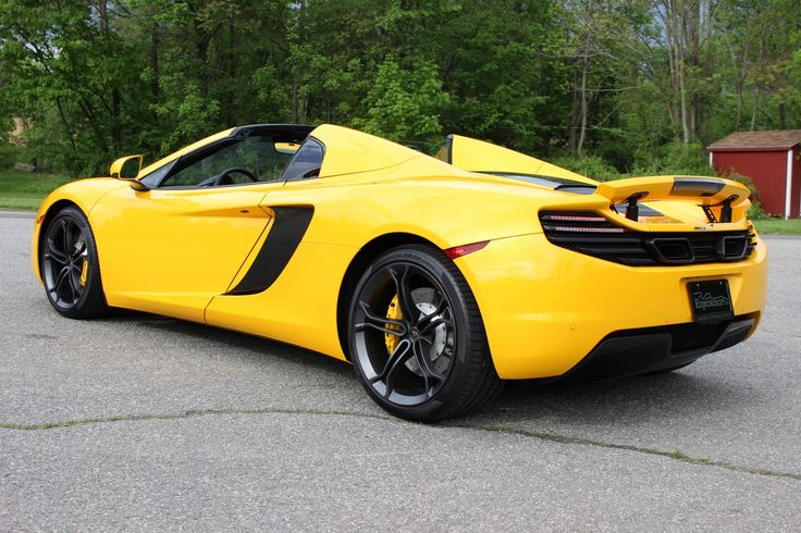 black and yellow mcLaren | 2014 MCLAREN MP4-12C SPIDER