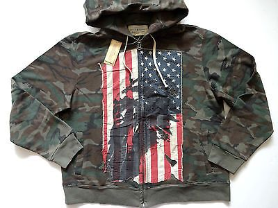 New Ralph Lauren Denim and Supply Camo Indian Flag Patch Zip Up Hoodie  Jacket XL