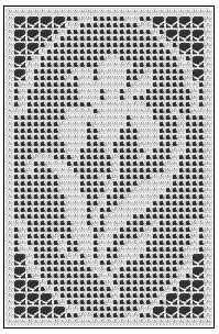 Iris Flower Filet Crochet Chart. i made this for my mom a few year ago. fun to stitch up