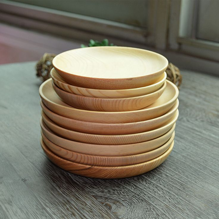 Китайский краткое деревянные тарелку завтрак плиты подносы чайные посуда посуда 5.5 и 4.5 дюймов