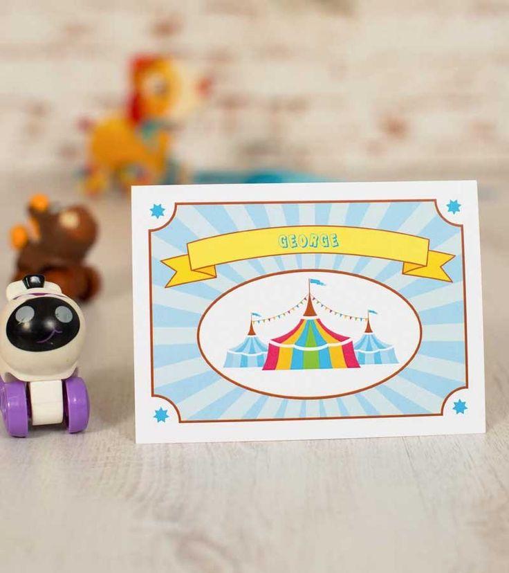 Invitatie de botez - Baby Boy Circus