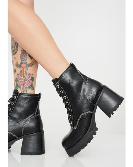 aa35ece38d Idol Worship Charm Boots in 2019 | Shoes | Platform boots, Boots, Black  platform boots