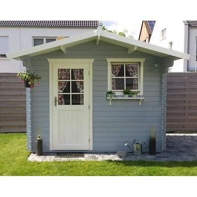 Cute  mm Gartenhaus Schweden x cm Holz Ger tehaus Blockhaus Schuppen