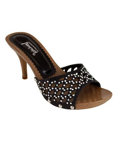 Another great find on #zulily! Black Rhinestone Alondra Sandal by Lena Luisa #zulilyfinds
