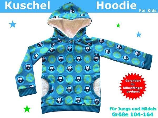 Kuschelhoodie für Kinder, Hoodie - Schnittmuster