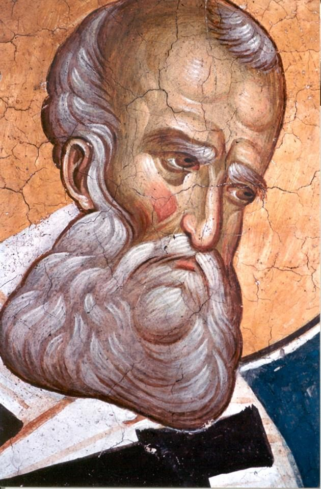""""""" ...Seek to distinguish yourself from others only in your generosity. Be like gods to the poor, imitating God's mercy. Humanity has nothing so much in common with God as the ability to do good."""" – St. Gregory the Theologian (also known as Gregory of Nazianzus) ~ On Love of the Poor --------------------------------------------------- (Fresco from Decani Monastery, 14th century, Kosovo, Serbia)"""