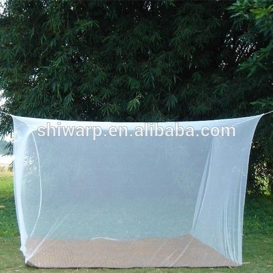tricot fabric 100% polyester double bed rectangular canopy bed mosquito net