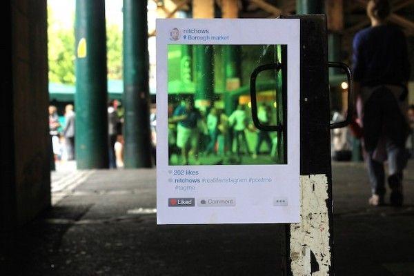 Real Life Instagram, Artist Bruno Ribeiro Installs Instagram Paper Frames in Public Places