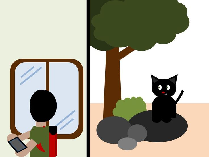 Di luar, ada kucing hitam yang menyeringai ke arahnya. Oland terkejut dan segera berlari ke luar rumah. Terlihat kucing itu berlari ke arah taman.
