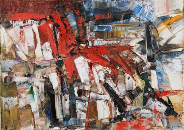 Le petit cheval, Jean-Paul Riopelle. Follow the biggest painting board on Pinterest: www.pinterest.com/atelierbeauvoir