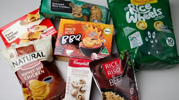 """A selection of foods labelled """"No added MSG"""" but contain identical ingredients."""