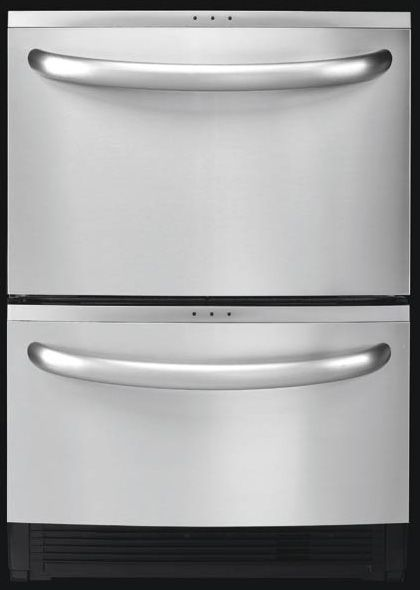 Having 2 drawers works well for our large family that is always making some sort of mess in the kitchen. Kenmore Elite double drawer dishwasher