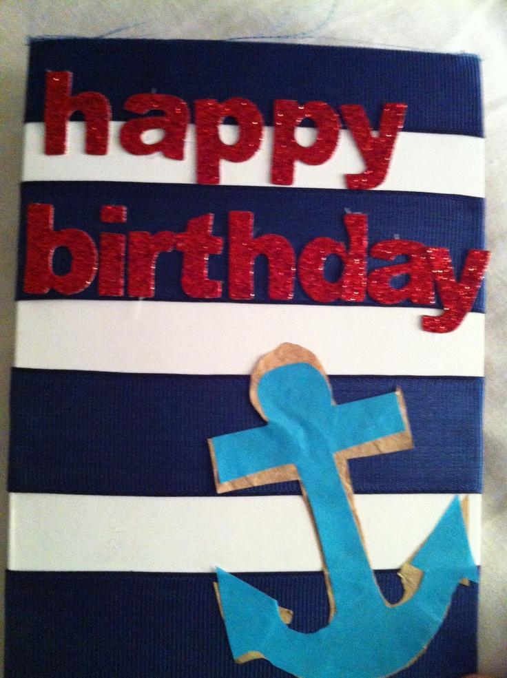 sailor birthday card