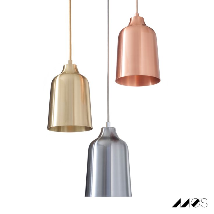 THE CONES: Solid metal pendant lamps   These handmade spun metal pendants are available in a variety of solid metals & can be hung individually or in clusters. They are brushed, sealed with a high heat lacquer & finished with custom made fittings in matching solid metals. metals. #lighting #pendantLAMP #statement #cone #copper #brass #steel #lighting #design #handmade