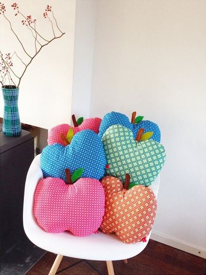 DIY apple cushions