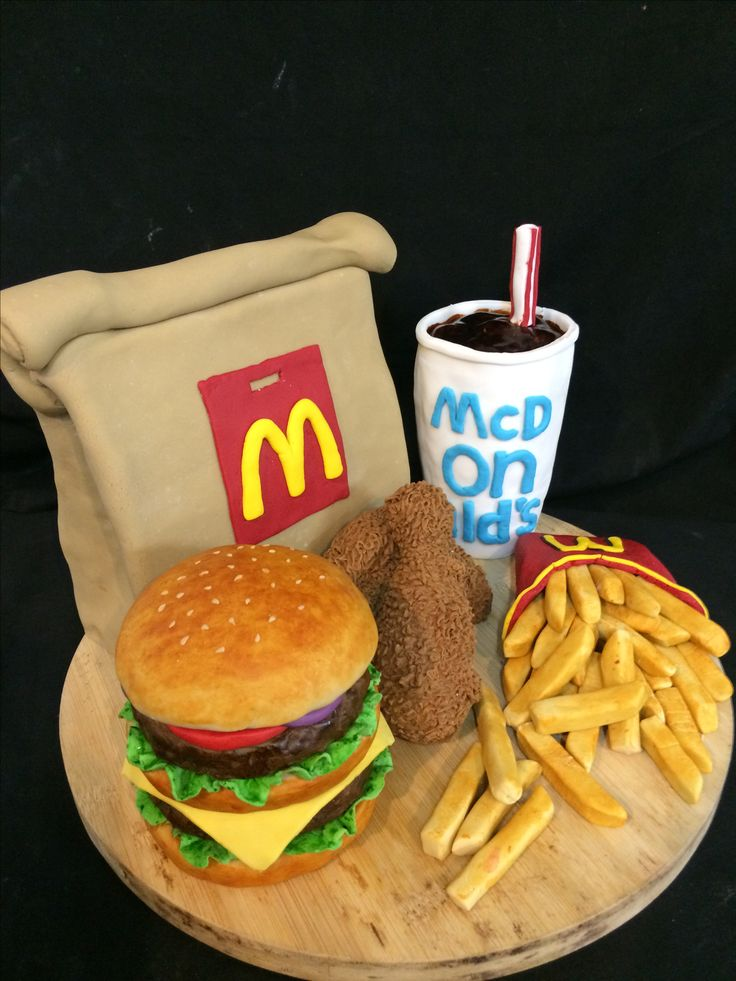 Mcdonalds fondant cake