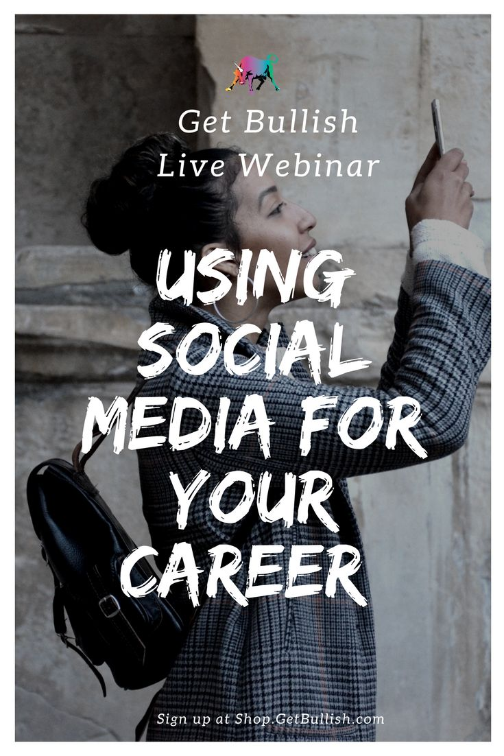 How to use social media for your career without getting overwhelmed doing ALL THE THINGS. Join us for a Live Webinar with Jen Dziura, founder of Get Bullish #getbullish #webinar #socialmedia #career #work #network