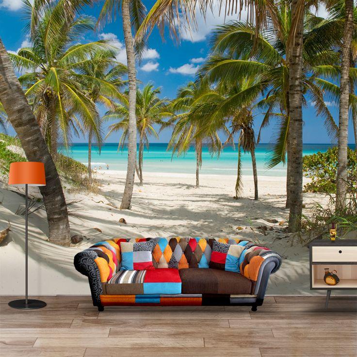 Fotobehang Tropisch strand per m²