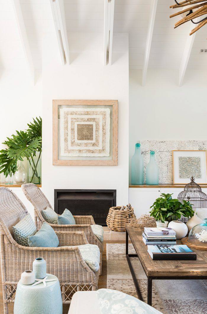"The soft blue and aged timber makes this room just ""feel"" ocean like."