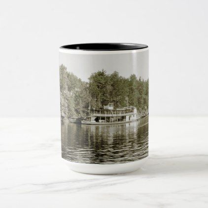 Wisconsin DELLS STEAMBOAT APOLLO #1 PRE 1930 PHOTO Mug - photo gifts cyo photos personalize