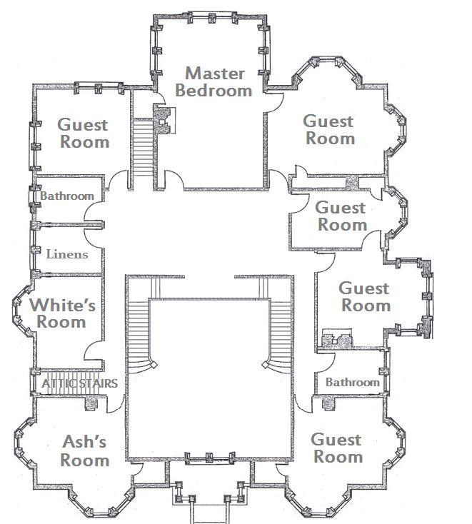 Clue house floor plan