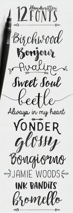 I'm sharing some font love with you just because everybody needs pretty fonts in…