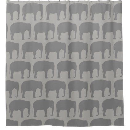 Asian Elephant Silhouettes Pattern Shower Curtain - patterns pattern special unique design gift idea diy