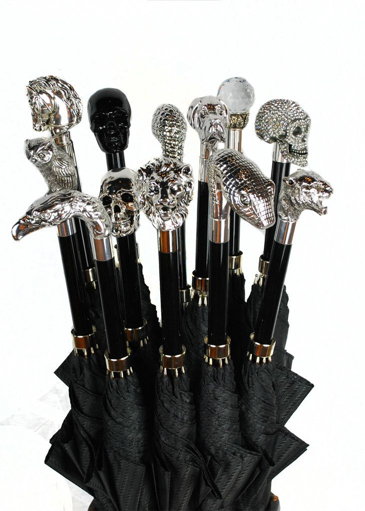 Perfect for a rainy day: Archer Adams Umbrellas. 212 339 3311: Archeradam Umbrellas, Gothic Umbrellas, Gothic Fashion For Men, Gothic Men Fashion, Men Accessories, Archer Adam, Umbrellas Handles, Luxury Fashion Men, Westminster Gothic