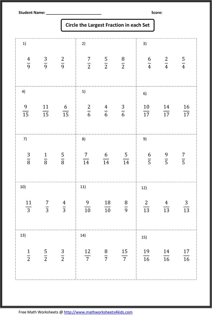 worksheet Fraction Worksheets Printable best 25 fractions worksheets ideas on pinterest math comparing find out which fraction is largest or smallest