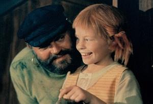Piratendochter Pippi en haar vader kapitein Langkous.