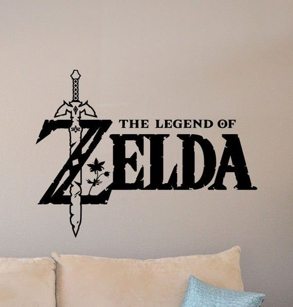 The Legend Of Zelda Wall Decal Master Sword Poster Video Game Decal Gamer Room Sign Kids Gaming Deco