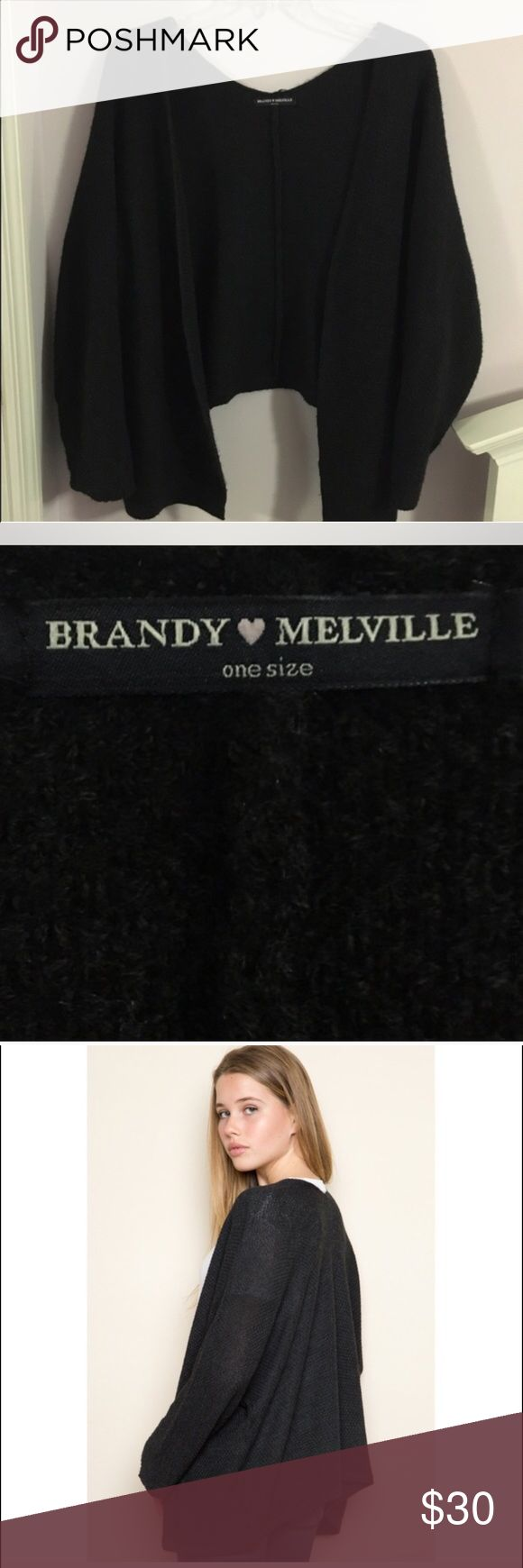 Brandy Melville Cardigan Black Brandy Melville Caroline Cardigan. Excellent used condition. One size fits most. Brandy Melville Sweaters Cardigans