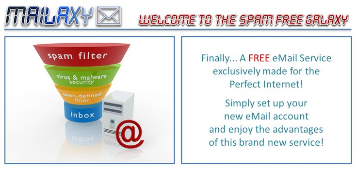 #MAILAXY Are you looking for a spam-free e-mail service? Join free!