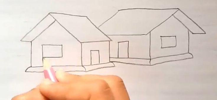 Cara Menggambar Jendela Rumah