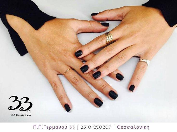 Black #matte nails! Τα ματ νύχια όσο περνάει ο καιρός κερδίζουν όλο και περισσότερο χώρο στις προτιμήσεις μας. Γι αυτό και βρίσκονται μέσα στις νέες τάσεις της μόδας για το 2016-17.  #Nails #Nailswag #Nailstagram #Nailsdid #Nailsofinstagram #Nailsdone #Nails2inspire #NailsOfTheDay #NailsArt #NailSalon #Nails4Yummies #Nailsinc #Nailsdesign #Nailspolish #Nailsoftheweek #Nailshop #Nailstyle #Nailsofig #Nailsmakeus #Thessaloniki #Beauty #Greece #BeautySalon