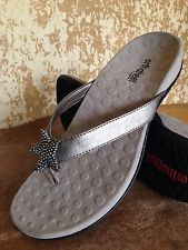 ORTHOHEEL Pewter Sandals W/Blingy Starfish Accent Womens 7 or 7.5 M