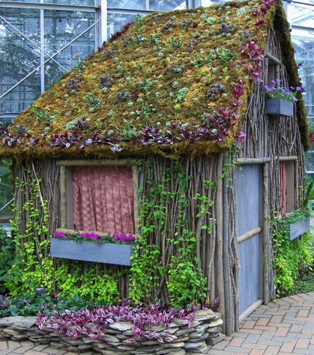 "Artist Studio Overlooks Guest Cabin With Rooftop Garden: 188 Best In The Garden: ""She Sheds"" Images On Pinterest"