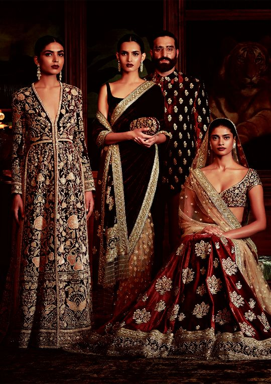 Sabyasachi's Firdaus Collection 2016: Firdaus is the highest garden in paradise, and in Sabyasachi rendition, most of the ingredients in the garden have traveled from as far as Burma, Ghana, and Turkey. Forty-seven artisans and three fine artists worked on the making of a single coat for over 1,600 hours. There were dip-dyed brocades, vegetable-dyed silk floss, velvet couching, brass sequins and more handwork than is visible to the untrained eye.