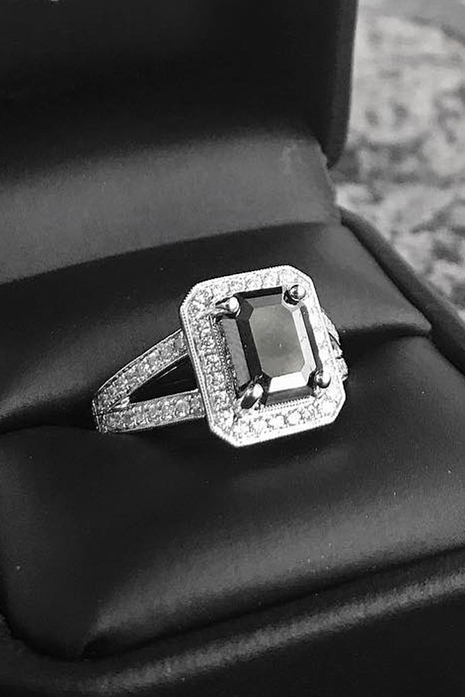 24 Unique Black Diamond Engagement Rings Diamond Engagement