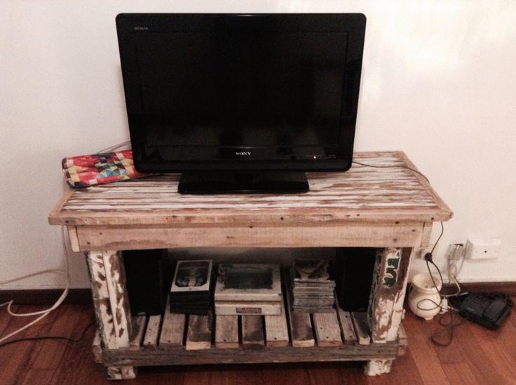 Mesa baja para tele  Persiana de cedro Patas de incienso antiguo  Fajas de madera kiri  Deck maderas recicladas