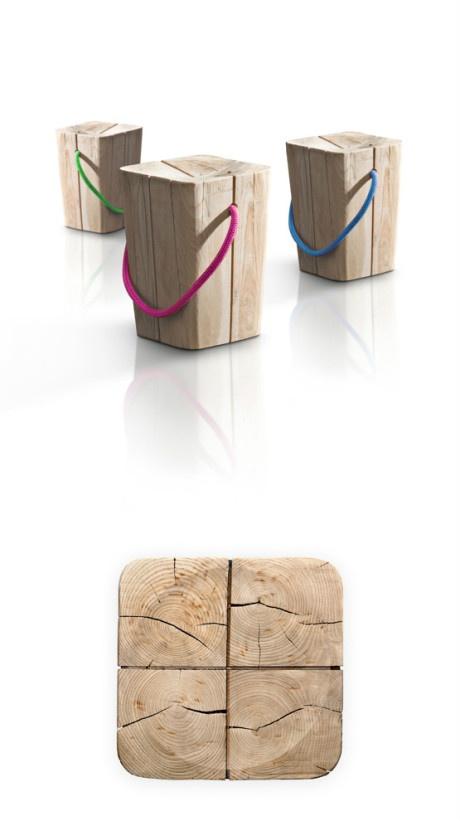Elite rope stool: Geek Living, En Bois, Wood Ideas, Living Daily, Stools Definitely, Tout En, Elite Rope, Colorful Ropes