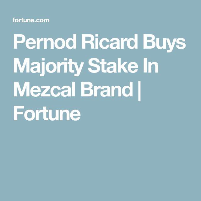Pernod Ricard Buys Majority Stake In Mezcal Brand | Fortune