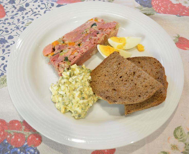 Smoked Ham Hock Terrine with Gribiche Sauce. Find the recipe at http://www.whatscookingella.com/blog/smoked-ham-hock-terrine-with-gribiche-sauce