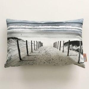 Kussen met foto van strand