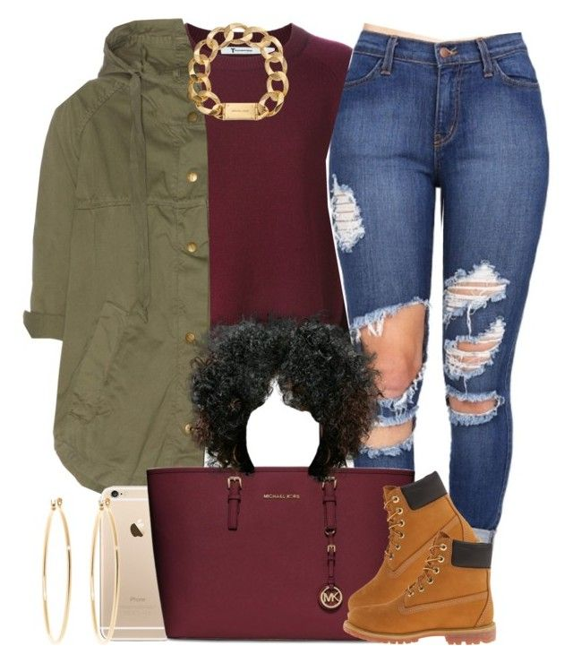 """""""I feel much better now """" by livelifefreelyy ❤ liked on Polyvore featuring Current/Elliott, MICHAEL Michael Kors, Timberland, Michael Kors, Brooks Brothers, women's clothing, women, female, woman and misses"""