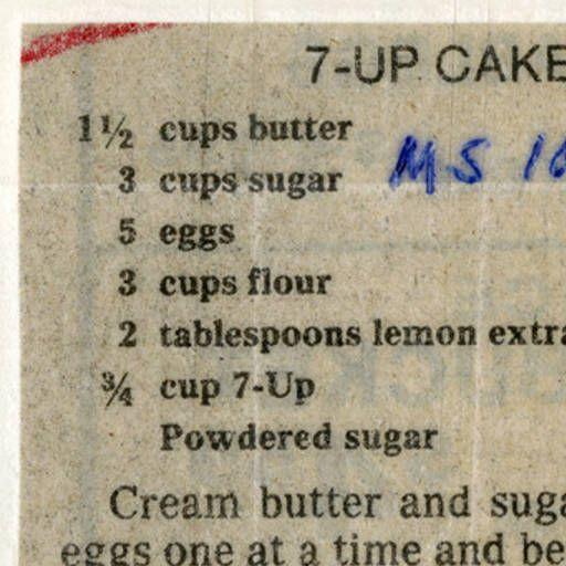 7-Up Cake :: Historic Recipe
