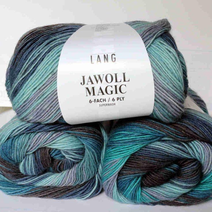 Jawoll Magic 6-fach Meerblau Lang Yarns Wolle - Heikes Handgewebtes: Traumhafte Wolle für Socken und noch viel mehr - dreamlike wool for socks and much more